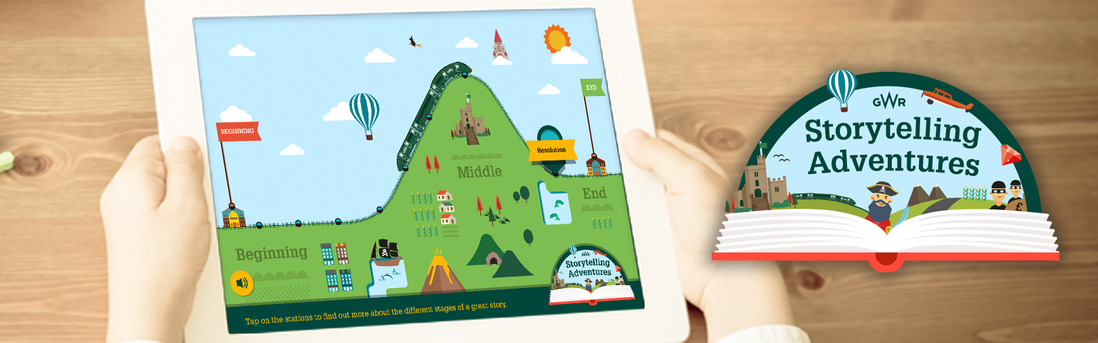 YGW Storytelling Adventures child with iPad