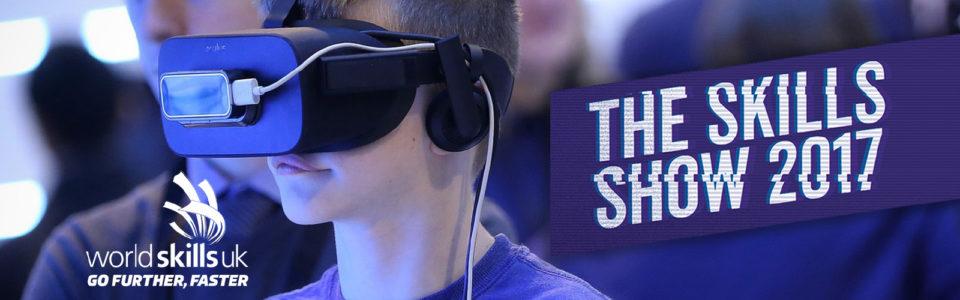 kid wearing virtual reality world skills
