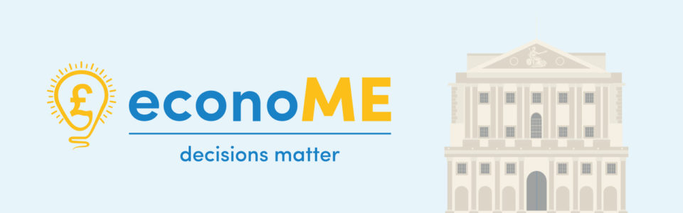 Econome decisions matter banner with light bulb and bank of england