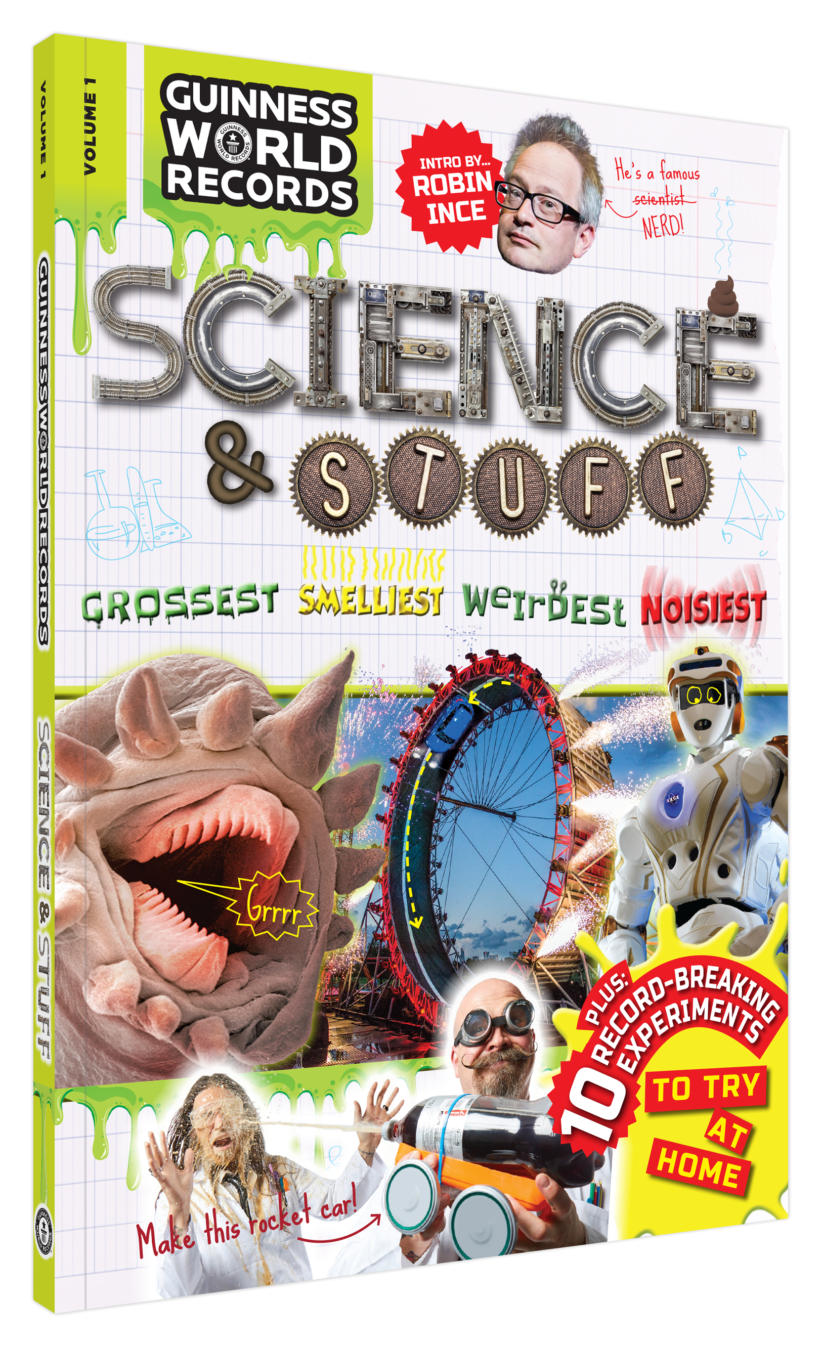 Guinness World Records Science & Stuff Book cover