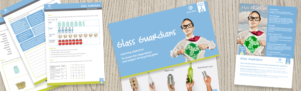 Glass Guardians resources flatlayed on a table