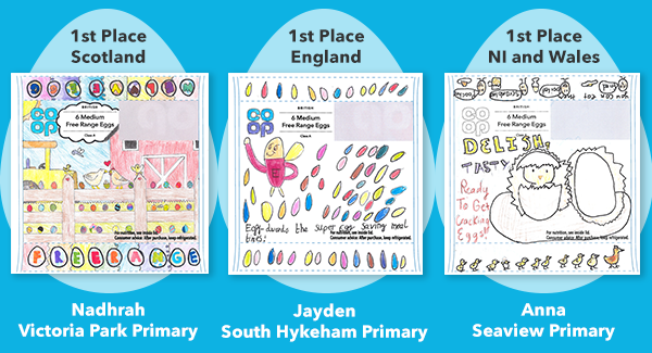 Image of the three winning co-op competition entries