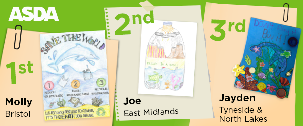 1st 2nd and 3rd winning entries for asda competition