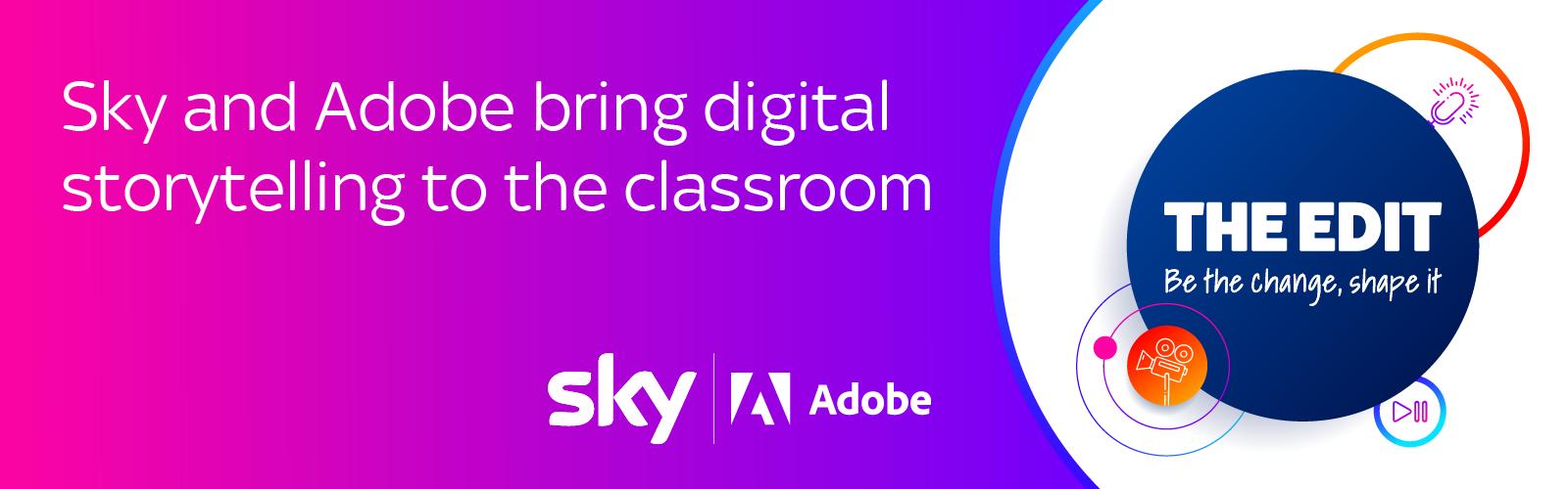 Sky Adobe The Edit logo banner